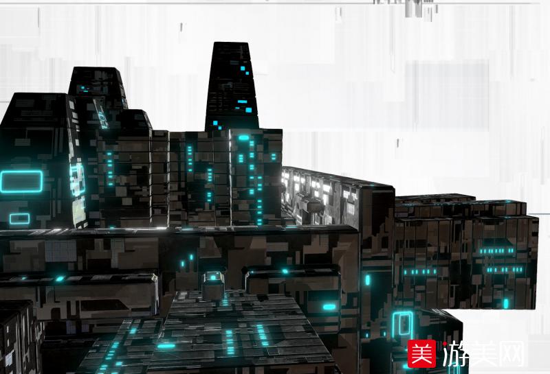 未来科幻城市建筑模型