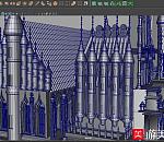 很漂亮的俄罗斯风情建筑场面模型下  3D模型