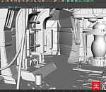 老化的太空飞船内部场景模型下载,有贴图