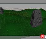 3d草堆场景模型、长草的山坡场景模型下载