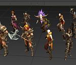 暗黑3 主要角色3D模型下载  带贴图  免费下载