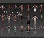 《TERA放逐者的国度 》女角色魔族套装合集3d模型