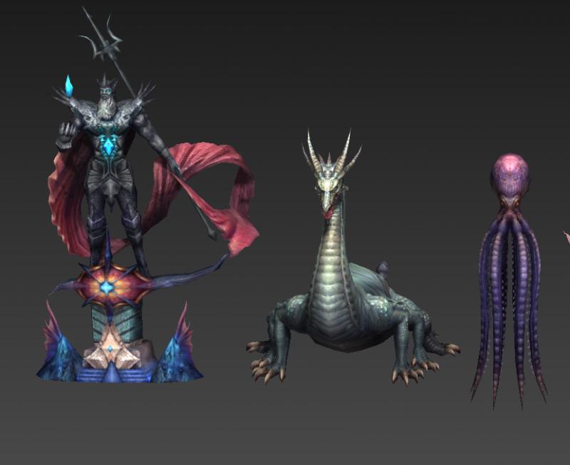 人鱼传说100多游戏个角色模型下载