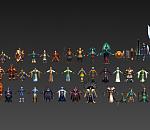 《创世西游》精品3D角色模型集合下载一