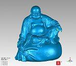 弥勒佛3d玉雕模型下载