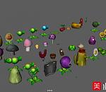 【植物大战僵尸】中所以的植物模型下载   带ps