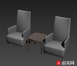 一套沙发3D模型下载