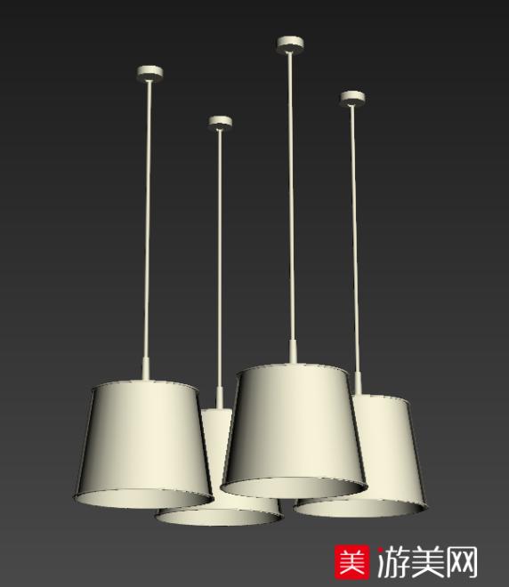 6个不同风格的吊灯3D模型   吊灯模型下载