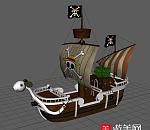 海贼王-路飞海贼船 黄金梅丽号海贼船3D模型下载