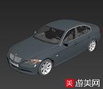灰色宝马轿车3d模型下载