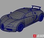 超酷黑色跑车-布加迪MAYA模型