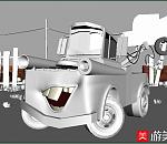 一个汽车卡通形象maya模型