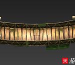 绳索木板桥游戏场景模型