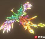 漂亮的凤凰鸟fbx动画模型