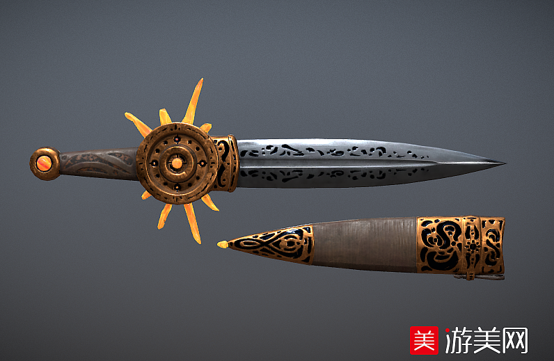 西方的短剑匕首写实武器模型下载