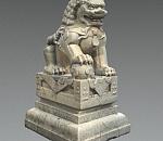 中国石狮子雕像