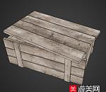 简单的短箱木板箱木箱子