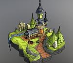 城堡maya卡通模型下载