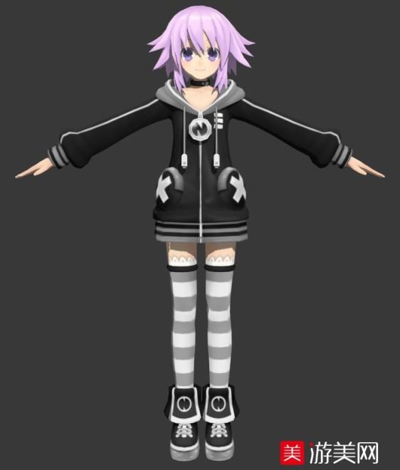 动漫美少女3D模型下载